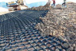 Thi công trọn gói Geocell gia cố mái dốc trồng cỏ