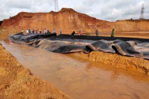 Dự án chống thấm Hồ bùn đỏ – Bauxit nhôm Lâm Đồng