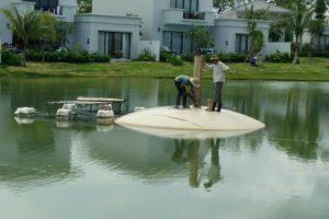 Hệ thống thu nước ngầm, thu khí đáy hồ chứa nước